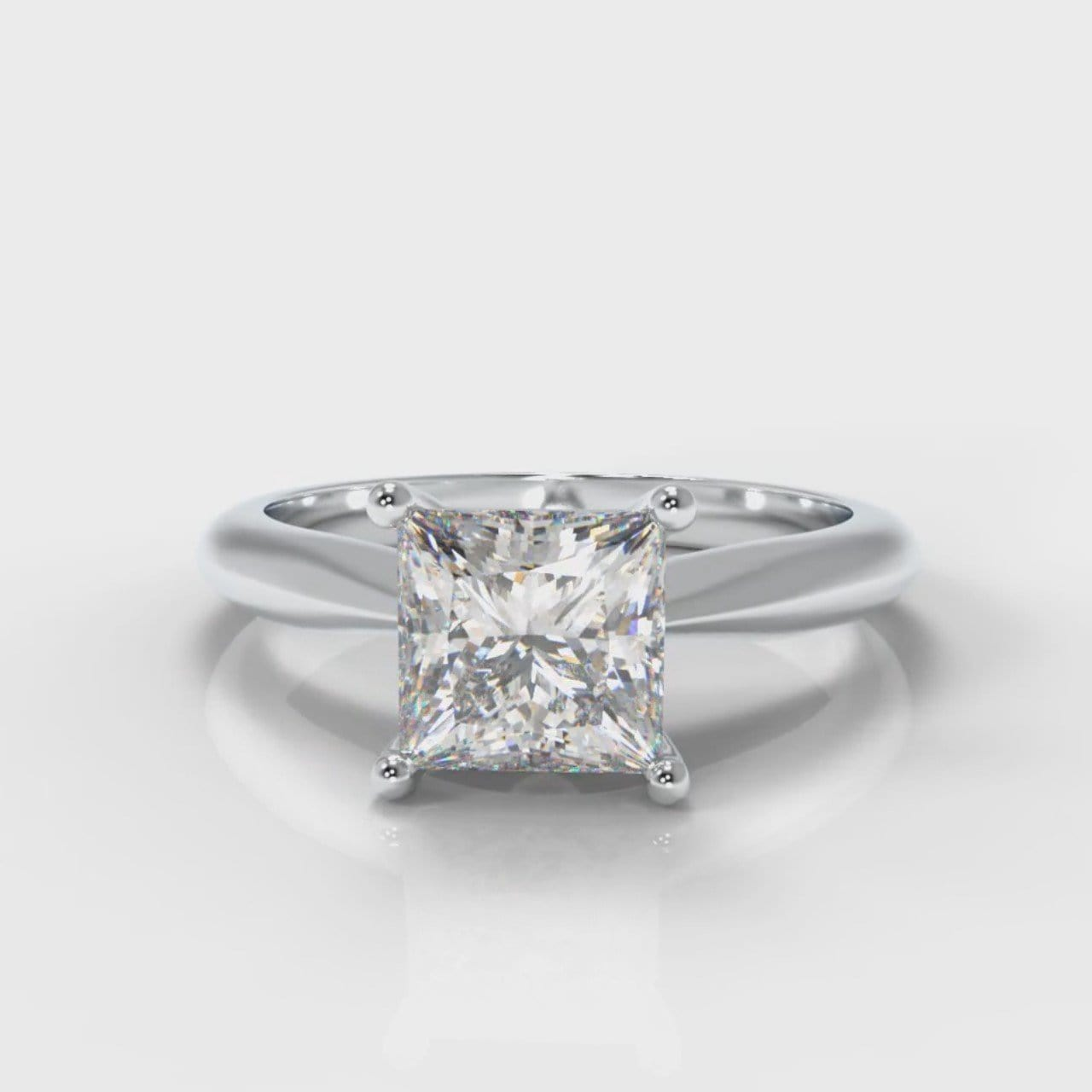 Carrée Solitaire Princess Cut Diamond Engagement Ring