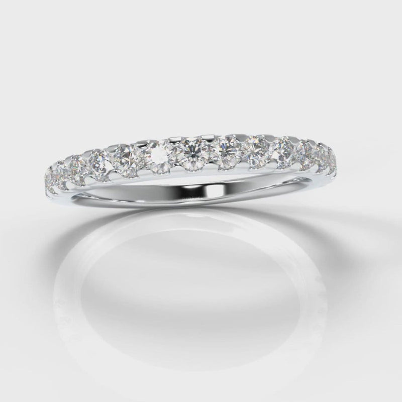 Micropavé Diamond Wedding Ring