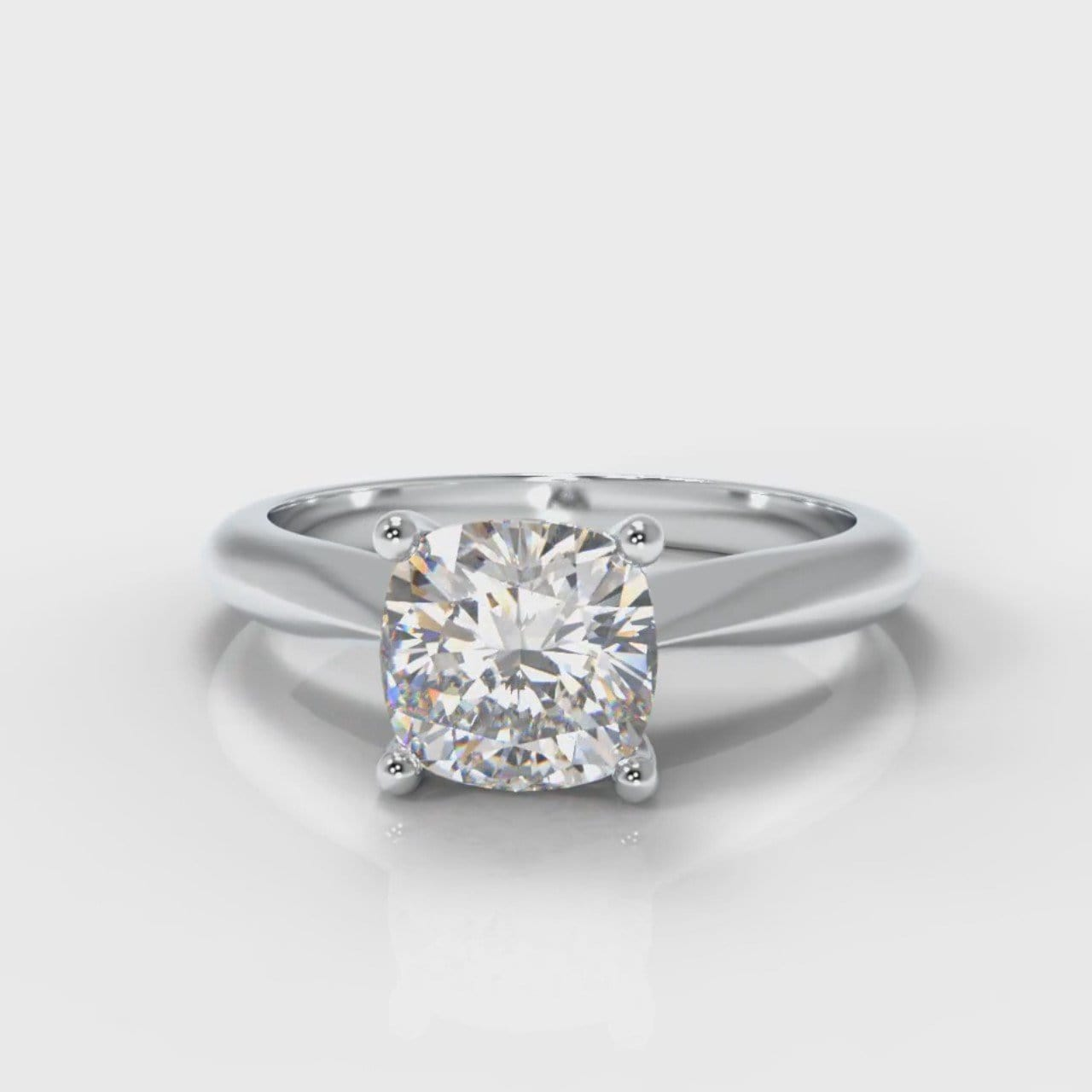 Carrée Solitaire Cushion Cut Diamond Engagement Ring
