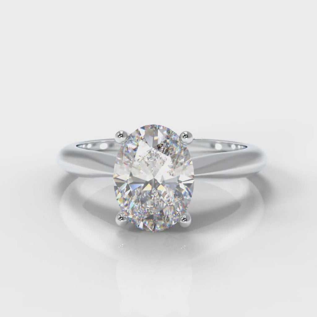 Carrée Solitaire Oval Diamond Engagement Ring