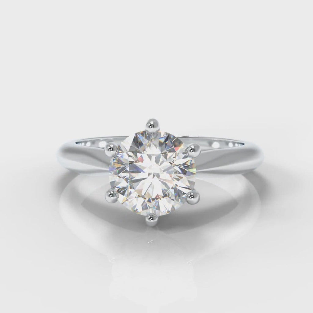 Star Solitaire Round Brilliant Diamond Engagement Ring