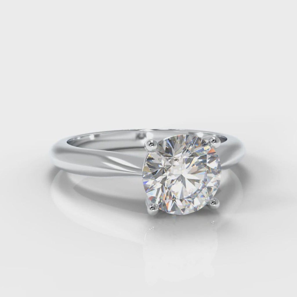 Carrée Solitaire Round Brilliant Engagement Ring