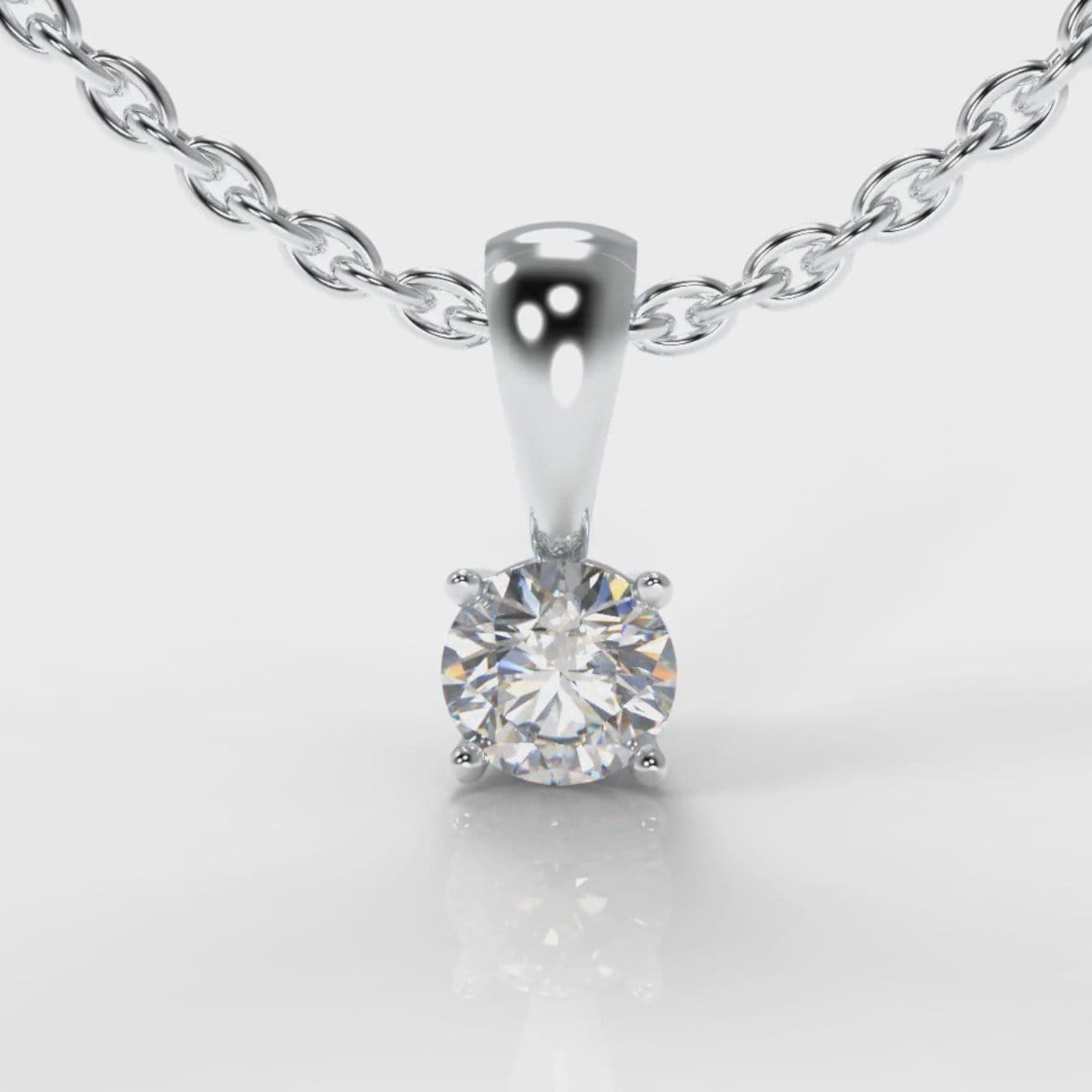 Four Claw Diamond Pendant