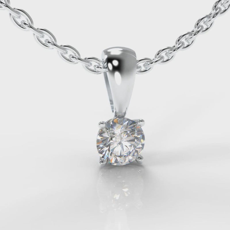Four Claw Diamond Pendant (GIA Certified)