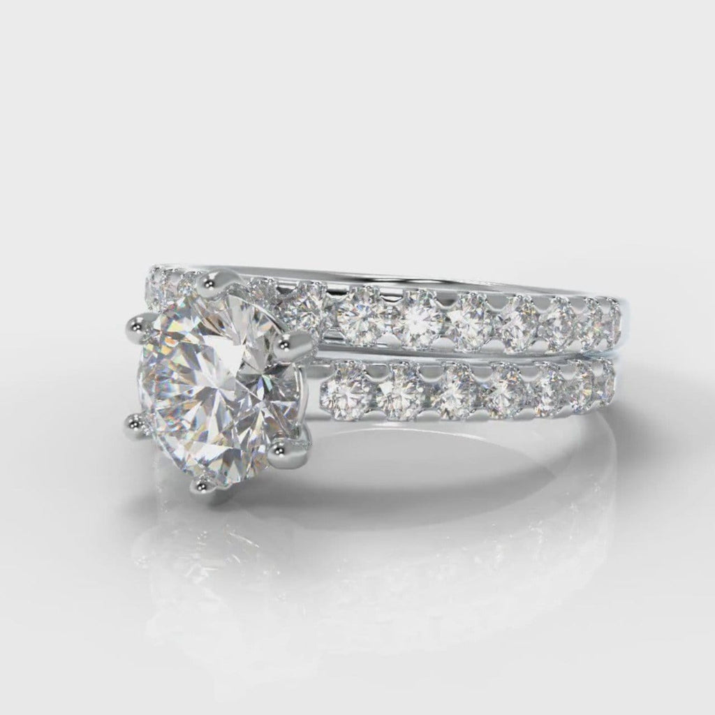 Star Micropavé Round Brilliant Bridal Set
