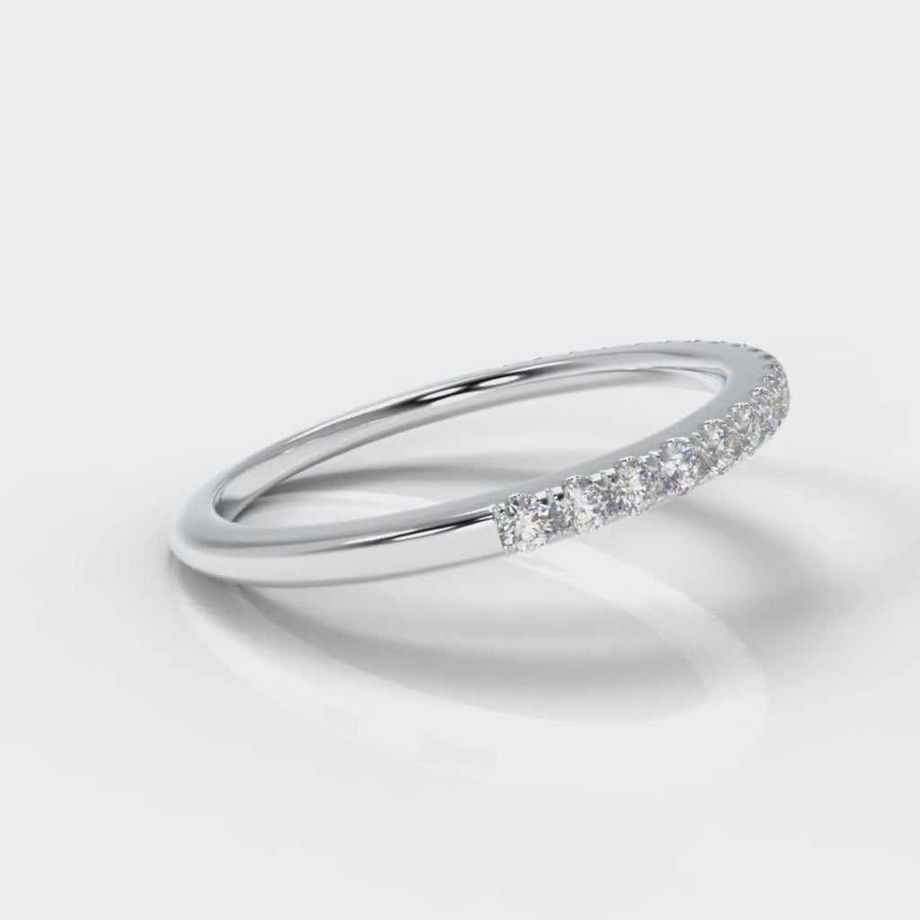 Petite Micropavé Diamond Wedding Ring