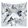 0.54 Carat G-Color SI1-Clarity Princess Diamond