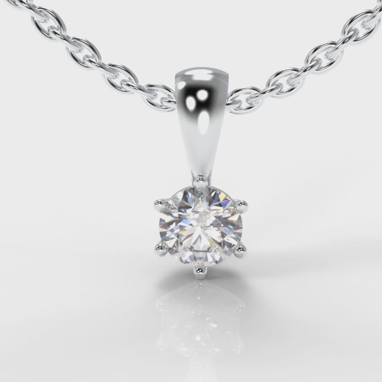 Six Claw Diamond Pendant (GIA Certified)