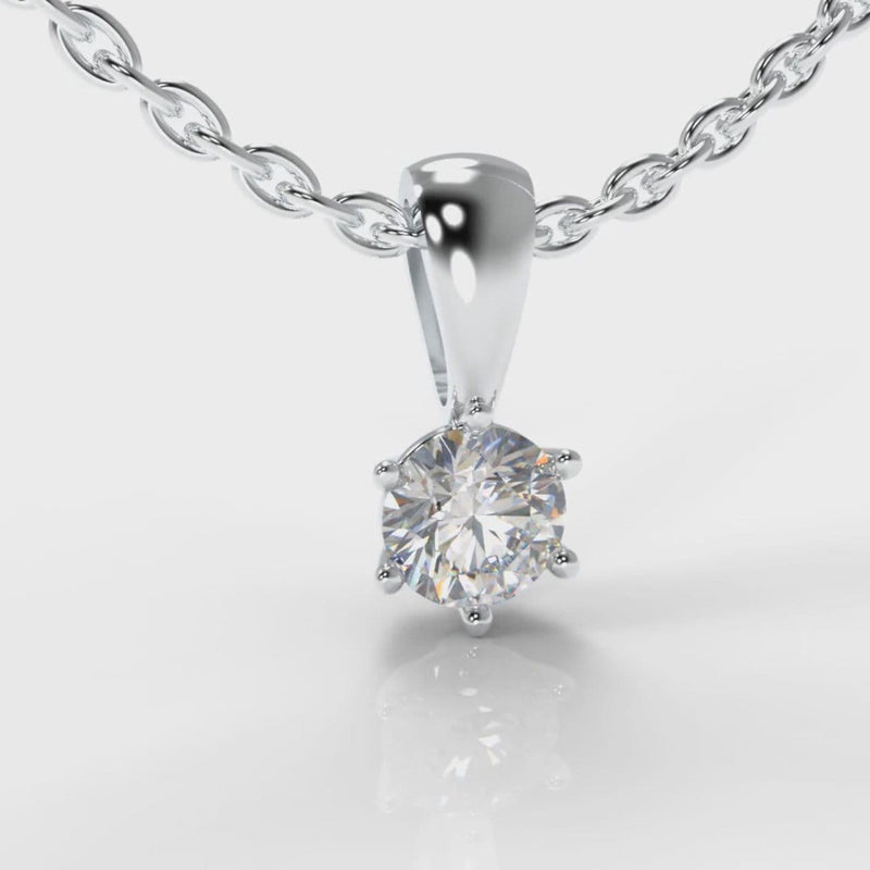 Six Claw Diamond Pendant