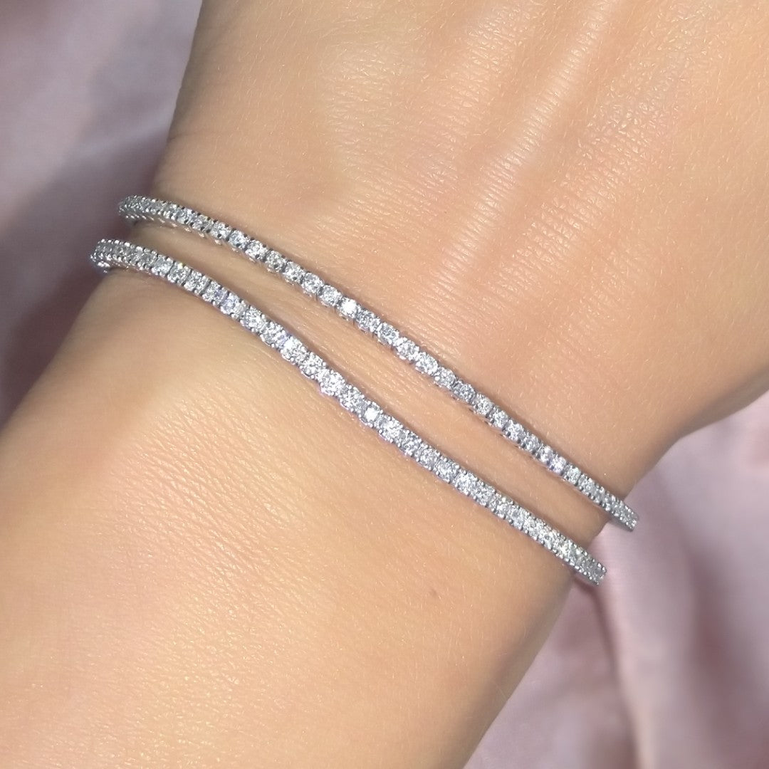 Natural Diamond Tennis Bracelet