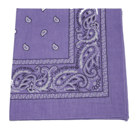 Purple bandana scarf