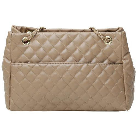 Nude Quilted Shopper Bag
