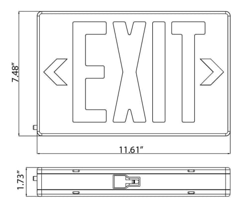 LED LED Emergency Exit Sign RED