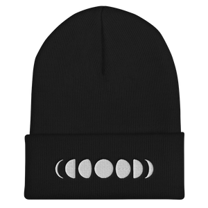 Moon phases - Embroidered Cuffed Beanie