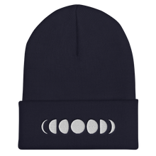 Load image into Gallery viewer, Moon phases - Embroidered Cuffed Beanie