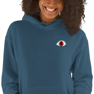 I see - Embroidered Hooded Sweatshirt
