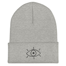 Load image into Gallery viewer, 3rd eye line - Embroidered Cuffed Beanie