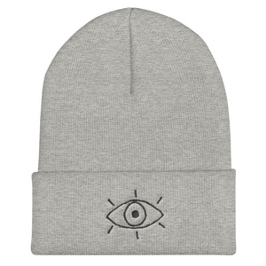 3rd eye line - Embroidered Cuffed Beanie