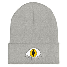 Load image into Gallery viewer, 3rd eye cat - Embroidered Cuffed Beanie