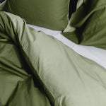 Cotton/Bamboo Bedding Deep Lichen Green