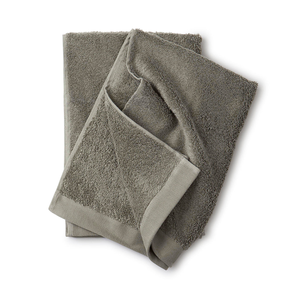 Organic Cotton Towel Deep Lichen Green