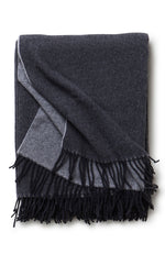 Recycled Wool Throw Dark Grey