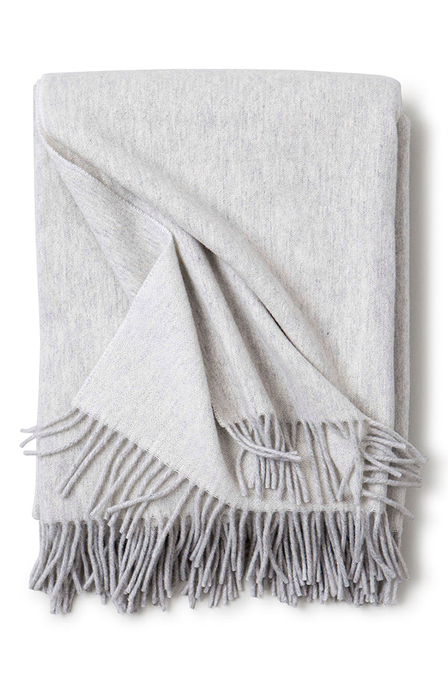 Recycled Wool Throw Light Grey