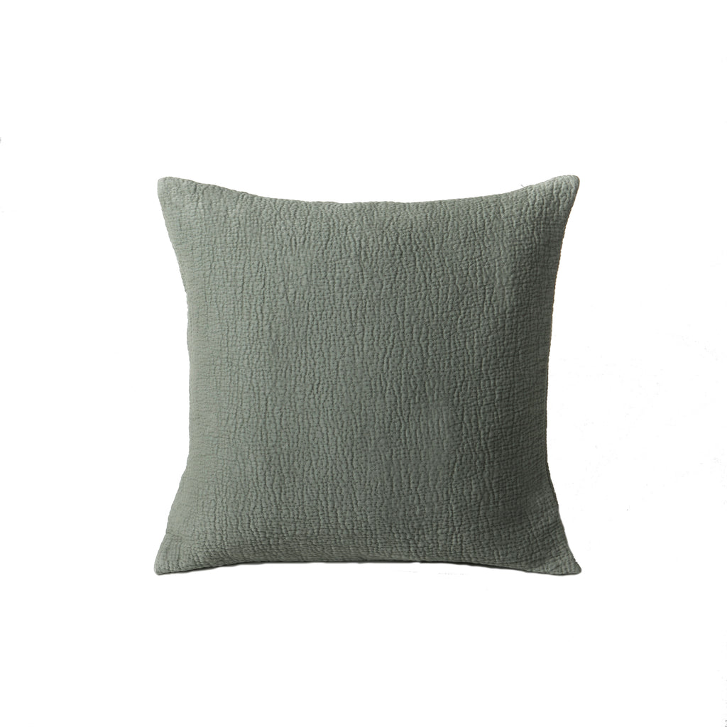 Structured Cushion Deep Lichen Green