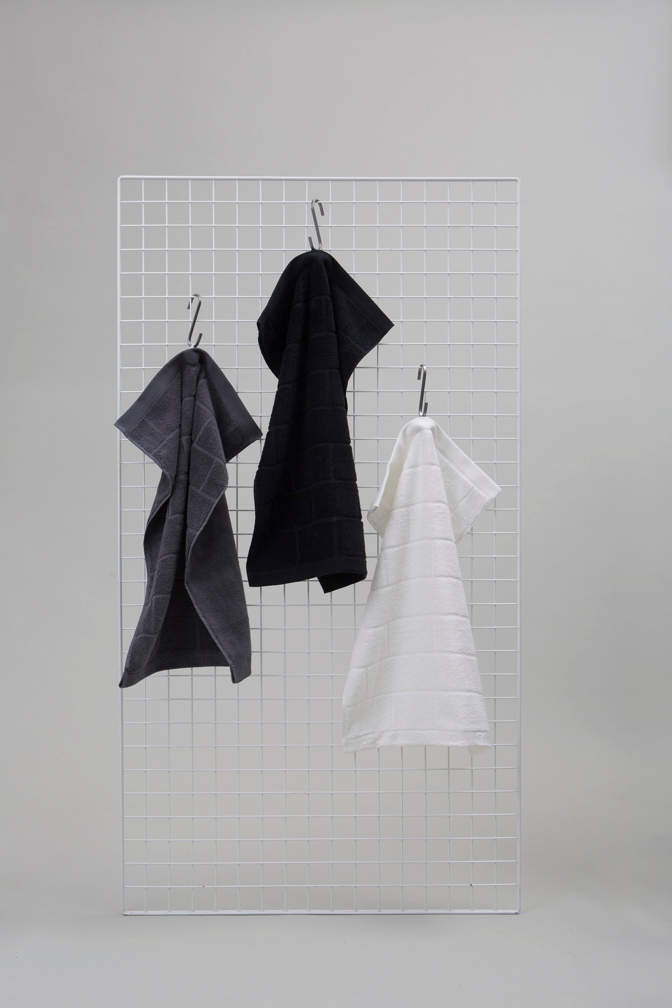 Organic Cotton Brick Towel Black