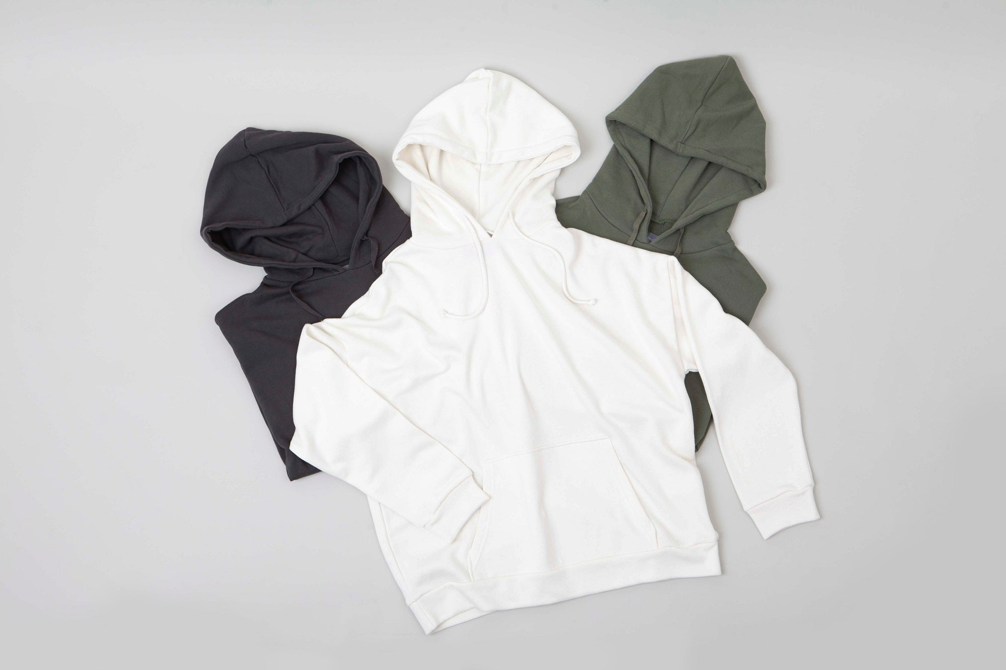 Hoodie Cotton Jersey Grey