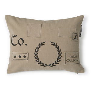 No 2 Military Canvas Cushion by Raul Magdaleno