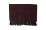 Recycled Wool Throw By Raul Magdaleno Maroon