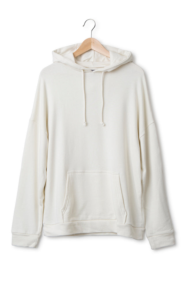 Hoodie Cotton Jersey White