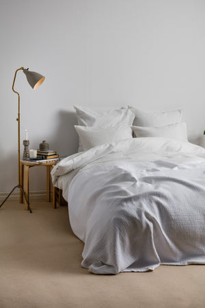Structured Bedspread White