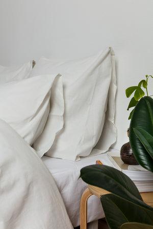 Cotton/Linen Bedding White