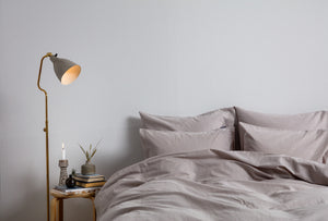 Cotton/Linen Bedding Light Grey