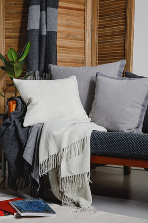 Recycled Wool Throw Dove