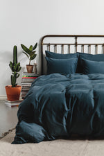 Cotton/Linen Bedding Petrol