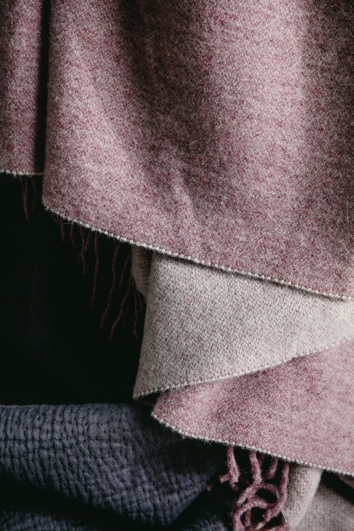 Recycled Wool Throw Lilac