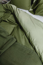 Structured Bedspread Deep Lichen Green