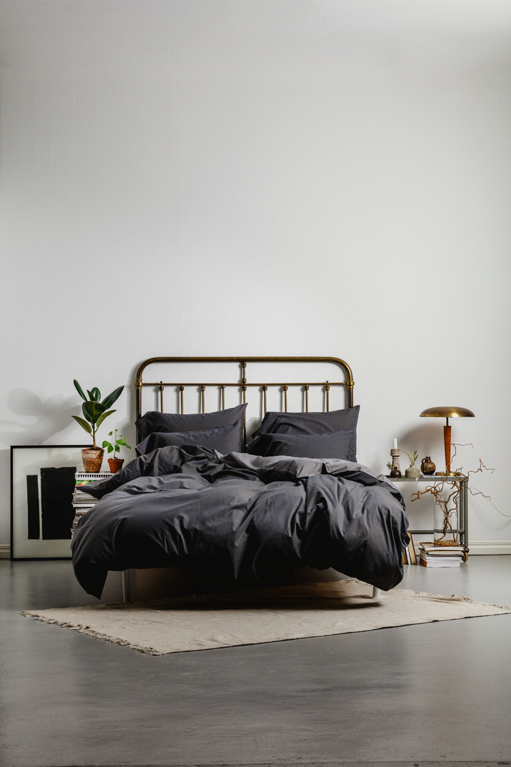Cotton/Bamboo Bedding Dark Grey
