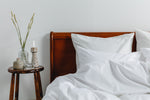 Cotton Sateen Bedding White