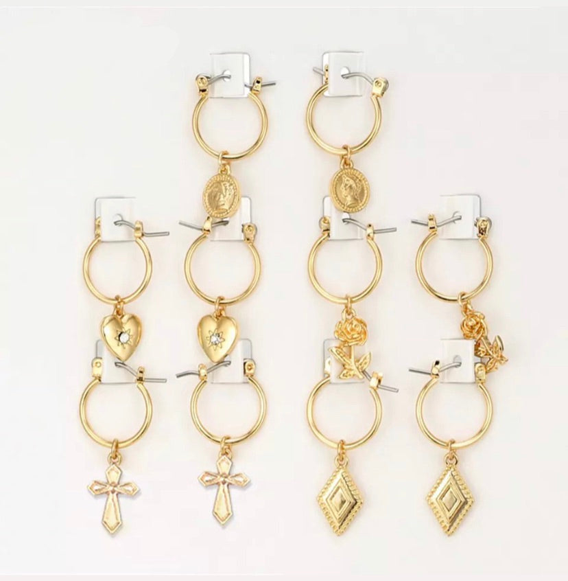 HARLEM CHARM EARRINGS (GOLD)