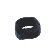 Short Fur Sheepskin Headband - Artemis Brighton