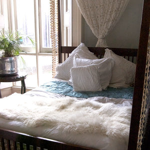 White Sheepskin Double - Artemis Brighton