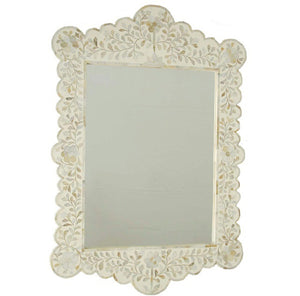 Mother of Pearl Scalloped Mirror - Artemis Brighton