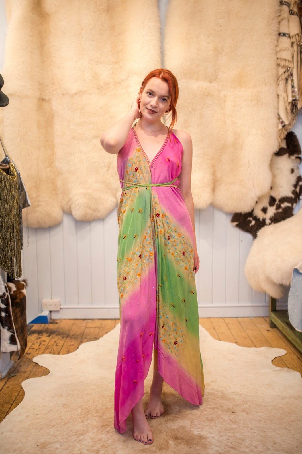 Vintage Indian silk dress - Artemis Brighton