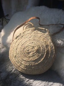 Round Straw Bag - Large - Artemis Brighton