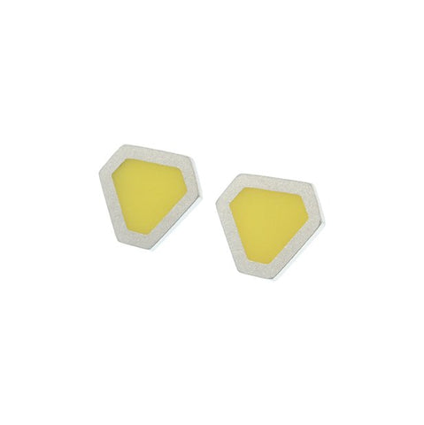 Tronqué triangle stud earrings