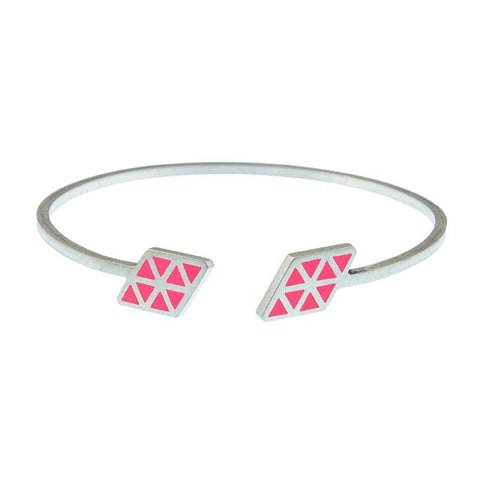 Iso rhombe open adjustable bangle
